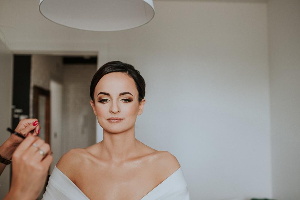 wesele sesja nad morzem make up panny młodej
