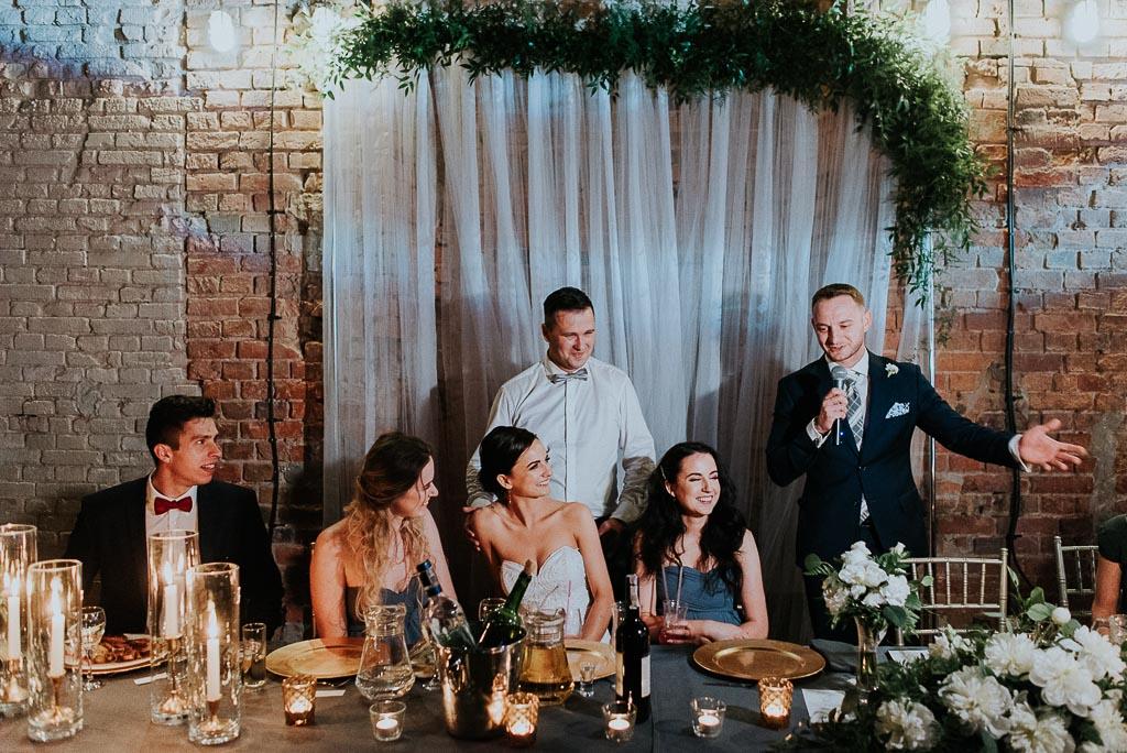wesele sesja nad morzem przemowa świadka