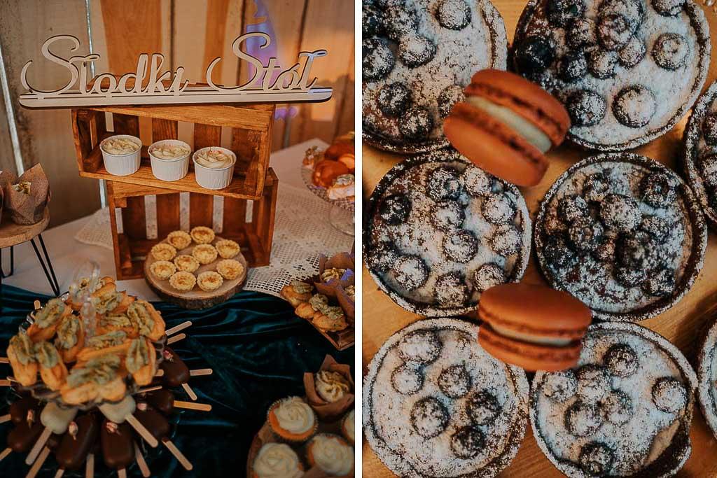 słodki stół, babeczki i ciasteczka