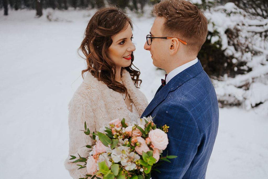 las zimą zimowa sesja Piotr czyżewski fotografia